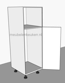 Onderkast t.b.v. koelkast 1025 mm en combi-magnetron 450 mm.