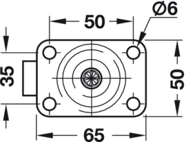 Design zwenkwiel met/zonder rem