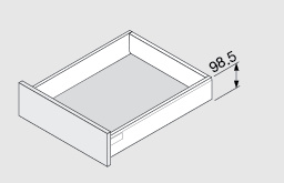 Blum Antaro 98,5 mm inbouwhoogte