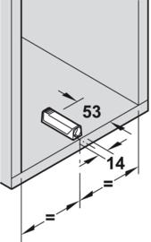 Adapterplaat recht voor een korte druksnapper (Tip-On)