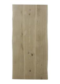 Massief rustiek eiken boomstam tafelblad 4 cm dik, extra brede planken, geborsteld