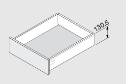 Blum Antaro 130,5 mm inbouwhoogte