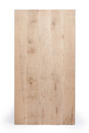 Massief rustiek eiken tafelblad met een dikte van 4 cm, geborsteld