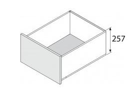Blum legrabox 257 mm inbouwhoogte