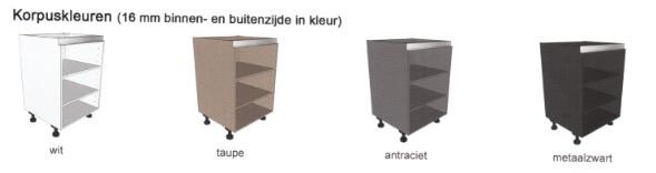 Hedendaags Inbouwkast t.b.v. koelkast 1025 mm en oven 59,5 mm GREEPLOOS IK-68