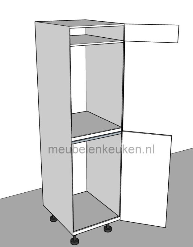 Verwonderlijk Inbouwkast t.b.v. koelkast 1025 mm en oven 59,5 mm GREEPLOOS BF-81