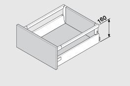 Blum Antaro 160 mm inbouwhoogte