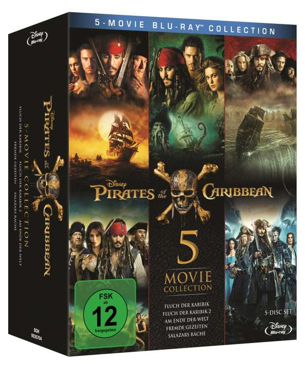 Pirates of the Caribbean 1-5 (Blu-ray)