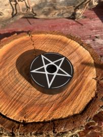 Kaarsenhouder klein, pentagram
