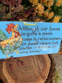 Hangbordje 'House...'