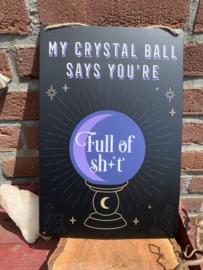 Wandhanger Crystal ball