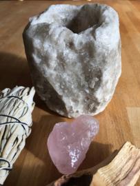 Zoutkristal sfeerlicht grijs