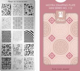 Moyra Mini Stamping Plate 112 Far Far Away