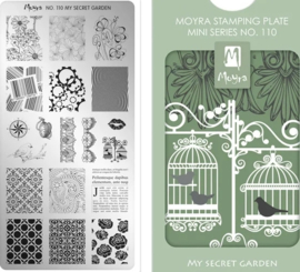 Moyra Mini Stamping Plate 110 My Secret Garden