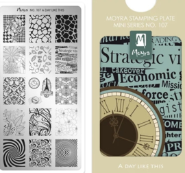 Moyra Mini Stamping Plate 107 A Day Like This