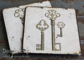 Onderzetters vintage sleutels