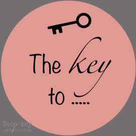 Stickers The key to... in vele kleuren