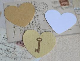 Sticker hartje met sleutel stempel