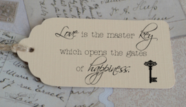 Label Love is the master key... in vele kleuren