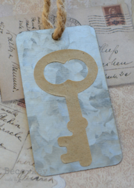 Label zink met sleutel sticker