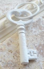 Sleutel met ring gietijzer wit