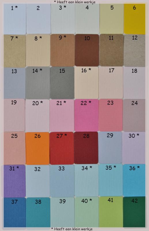 Envelop met sleutel afdruk in vele kleuren