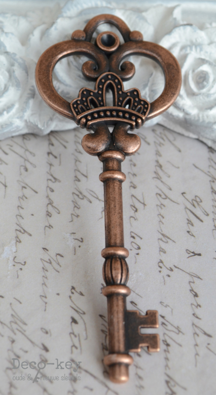 Sleutel vintage koper