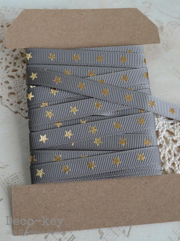 Kaartje sterren lint