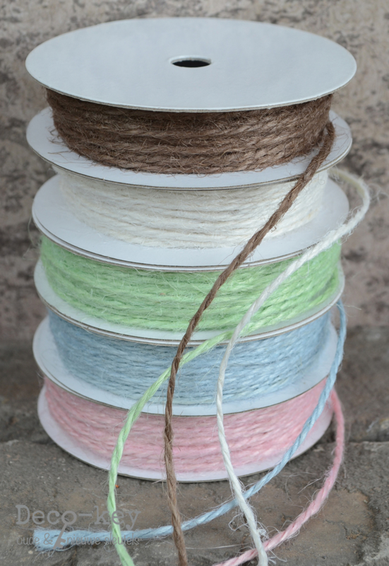 Gekleurd jute touw