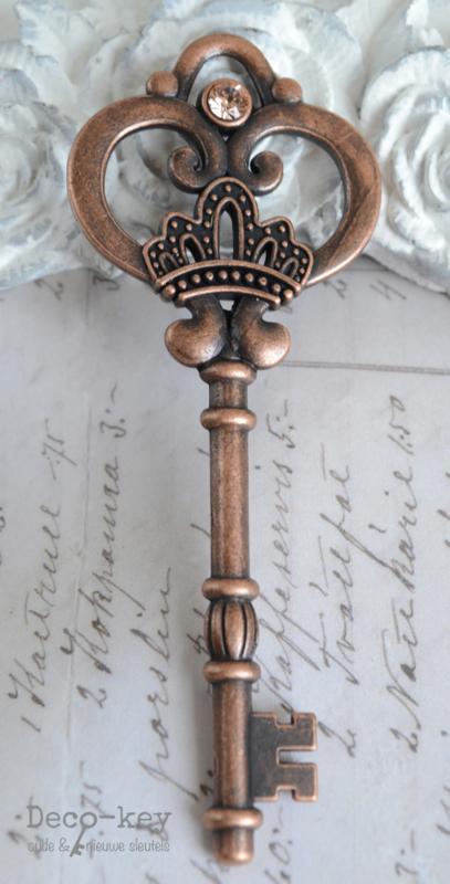 Sleutel vintage koper similisteen 12 kleuren