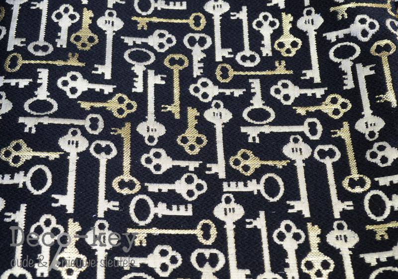 Stof - doek met sleutelprint