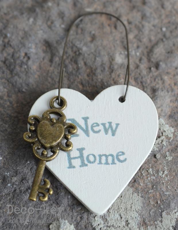 Tag hartje met sleuteltje New Home