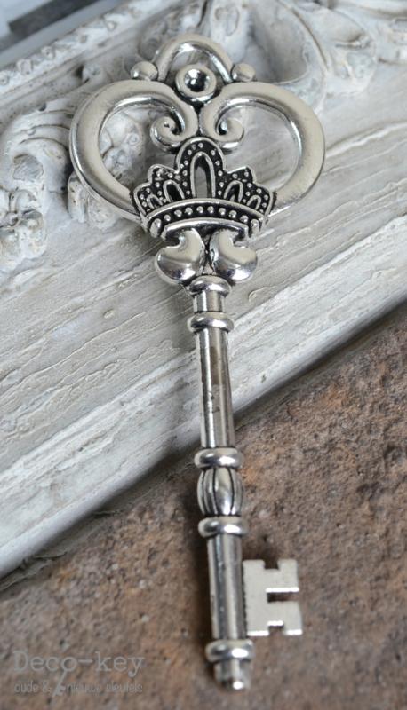 Sleutel vintage zilver
