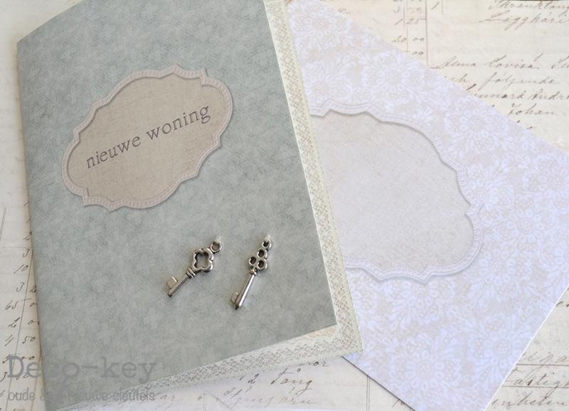 Kaart & envelop nieuwe woning bedelsleutels