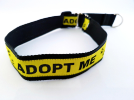 Martingale halsband 'adopt me', 2.5cm breed