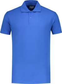 Stevige Workman polo korenblauw