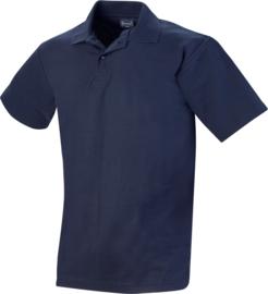 Stevige Workman polo navy blauw