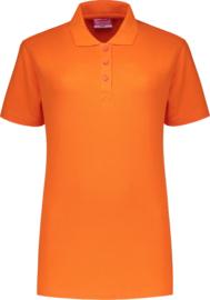 Dames polo oranje