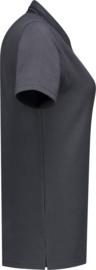Dames polo shirt donker grijs