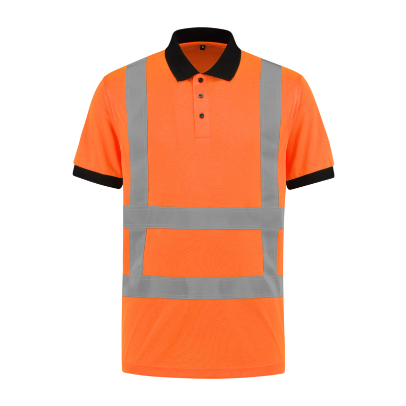 Polo Shirt Oranje Met RWS reflectie