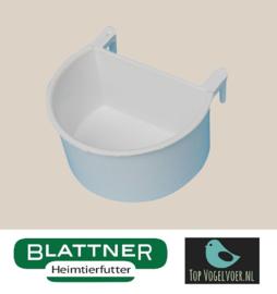 Half Round Bowl White With Plastic Hook (Halbrundnapf weiß mit Plastikhaken)