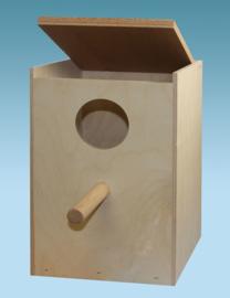 Grote parkieten nestkast 20x30x20cm (Großsittichnistkasten senkrecht 20x30x20cm)