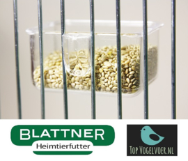 Food Bowl Transparent 6x3.4x3.2cm With Clamp (Napf transparent 6 x 3,4 x 3,2 cm zum Einklemmen)