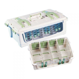 Plastic Transport Box Small 4-parts  Included Top Cover (Safari Cage 4 teilig mit Deckel)