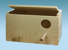Parakeets Nest Box With Hollowing Bottom (Wellensittichnistkasten mit Eiermulde)