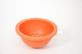 Plastic Nest Orange 10cm With Brackets (Plastikhakennest für Gitter 10 cm)