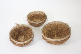 Wildzang nest kokos klein ca. 10cm (Waldvogelnest mit Kokosfasern klein ca. 10 cm)