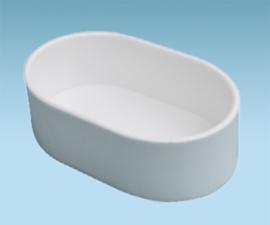 Plastic Voer / Waterbak Ovaal Wit 10cm (Futter u. Wassernapf oval ca 10 cm weiß)