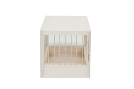 Wooden Nest Box With Bars Small 14x14x15,5cm (Volierennest Holz 14,5 x 14,5 x 15,5 cm)