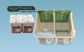 Plastic Transport Box Small 2-parts (Safari Cage klein 2 teilig mit Deckel)
